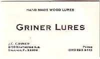 J.C. Griner Business Card