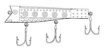 Jack Haley patent drawing for Spot King lure