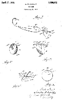 Charles Schlipp Fishing Lure Patent Assigned to Al Foss