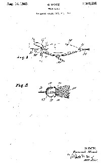 Conrad Wood fishing Lure Patent Assigned to True Temper