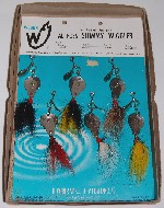 Point of Sale Card for Al Foss Shimmy Wigglers Made by Weber Tackle Company