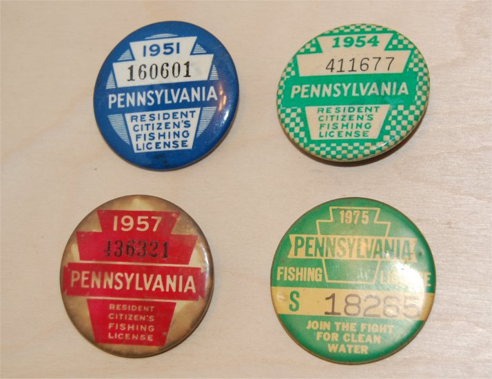 Pennsylvania fishing licenses four pa license badges for Pa fishing license online
